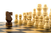 Chess game on white background — Stock Photo