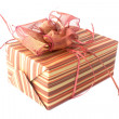 Stock Photo: Gift box on white background