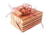Gift box on a white background — Stock Photo