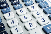 Closeup image of calculator keyboard — Stock Photo