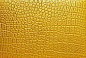 Gold crocodile leather, can use as background  — Foto de Stock