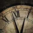 Grunge old Clock showing the Time is After Midnight — Stock Photo #47727187