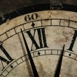 Grunge old Clock showing the Time is After Midnight — Stock Photo