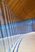 Patrón de pared de vidrio curvo — Foto de Stock