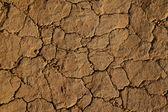 Trockene, rissige erde und schmutz mit den körnern des sandes — Stockfoto