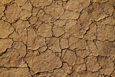 Dry cracked earth and dirt with grains of sand — Stock Photo