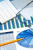 Farbe Diagramme — Stockfoto