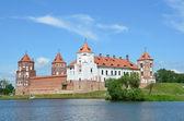 Zamek mirsky na białorusi. — Zdjęcie stockowe