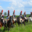 Reproduction of the battle near Borodino in Russia in 1812 year. — Stock Photo