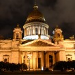St. Petersburg. Isakievskiy cathedral in night. — Foto Stock #13176704