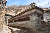 Nepal, trekking around Anapurna. Old village Giaru. — Stock Photo