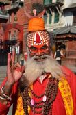 Wandering Sadhu in Kathmandu, Nepal — Stock Photo