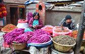 尼泊尔加德满都。街头贸易 — 图库照片