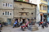 Nepal, Kathmandu, the typical patio — Stock Photo