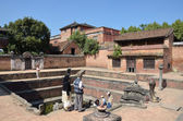 Nepal, Bhaktapur, Durbar square, the Royal Palace reservoir — Foto Stock
