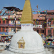 Nepal, Kathmandu, one of the stupas of the Buddhist temple Center Bodnath — Stock Photo