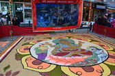 The Nepalese new year's Eve, the Nepalese have painted on the street in Kathmandu Buddha image — Stock Photo