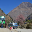 Bus station in Beni, Nepal — Stock Photo