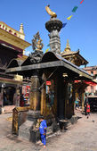 Nepal Buddhist temple complex, Svаyatbudnath, Sanctuary. — Stockfoto