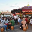 Stock Photo: Istanbul, outdoor cafe on bank of Bosphorus.