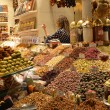 Stock Photo: Istanbul, trade of Oriental sweets in Egyptimarket.