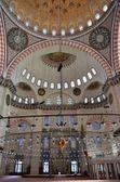 Istanbul, Suleymaniye mosque inside. — Stock Photo