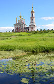 The church of Mihail Arhangel in Suzdal. Golden ring of Russia. — Stock Photo