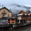 France, the ski resort of Chamonix in the rain and fog. — Stock Photo #22191051