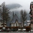 France, the ski resort of Chamonix in the rain and fog. — Stock Photo #22191493