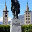Italy, Aosta, monument to Saint Anselme. — Stock Photo #22783094