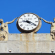 Italy, Aosta,clock at municipality. — Stock Photo