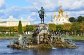 St.Peterburg,fountains of Petergof. — Stock Photo