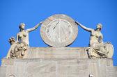 Italy, Aosta, sunny clock at municipality. — Stock Photo