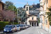 Italy, panorama of Bergamo in spring. — Stock Photo