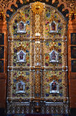 Panorama of St. Petersburg, the iconostasis of the Cathedral of Spass on blood. — Stock Photo
