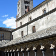 Italy, Aosta, ancient Church Peter and Urs. — ストック写真