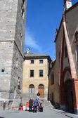 Italia, aosta, pedro iglesia antigua y urs. — Foto de Stock