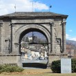 Stock Photo: Italy, Aosta, ancient Arch of Augustus.