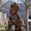 Italy, Aosta, wooden sculptures of musicians. — Stock Photo #23981191