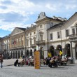Italy, views of Aosta, the square of Emilio Shanu with municipality. — Stock Photo