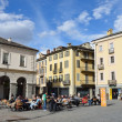 Italy, square of Emilio Shany - main square of Aosta. — Stock fotografie #24007655