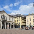 Italy, square of Emilio Shany - main square of Aosta. — Stock Photo #24009113