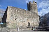 италия, аоста, башня bramafam в древнем городе, 12-13 веках. — Стоковое фото