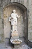 Italy, Bergamo, sculpture on the street. — Stock Photo