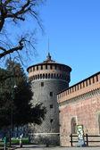 イタリア、ミラノのスフォルツェスコ城. — ストック写真