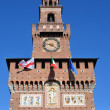 Sforzesco Castle in Milan, Italy. — Stock fotografie