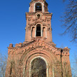 The Bell Tower in ruined Peter and Paul monastery in the town of Yuryev-Polsky — Stock Photo