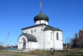 Georgievsky Cathedral in Yuriev-Polsky,13 century. Golden ring of Russia. — Stock Photo