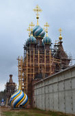 Restoration of the monastery Solbinskaya pustin, Russia — Stock Photo