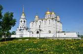 Catedral de uspenski en vladimir, siglo 12. anillo de oro de rusia. — Foto de Stock